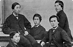 The Five Young Choshu men sent to England in 1863 作品番号 TOP5042800000M